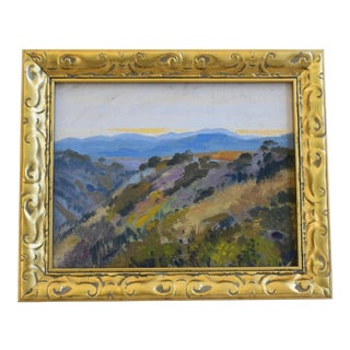 George Barker (1882-1965), Plein Air California Landscape Oil Painting