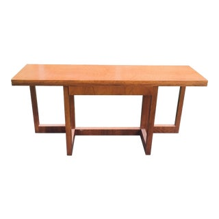 20th Century Danish Modern Jack Cartwright for Founders Folding Console Table With Drawer For Sale
