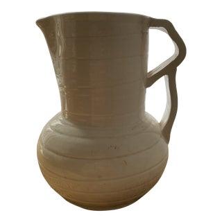 Mid 20th Century Vintage Ivory Pitcher Vase Vessel For Sale