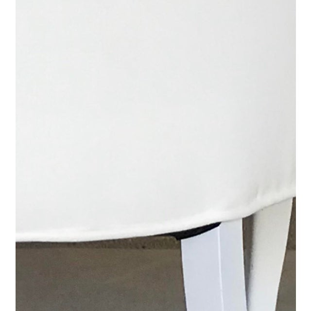 20th Century Dining Armless Side Chairs Scroll Foot Cabriole Leg Drexel Touraine - Set of 6 For Sale - Image 12 of 13