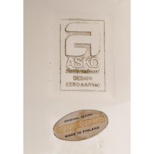 Textile Asko Eero Aarnio Cognac Chairs - a Pair For Sale - Image 7 of 8