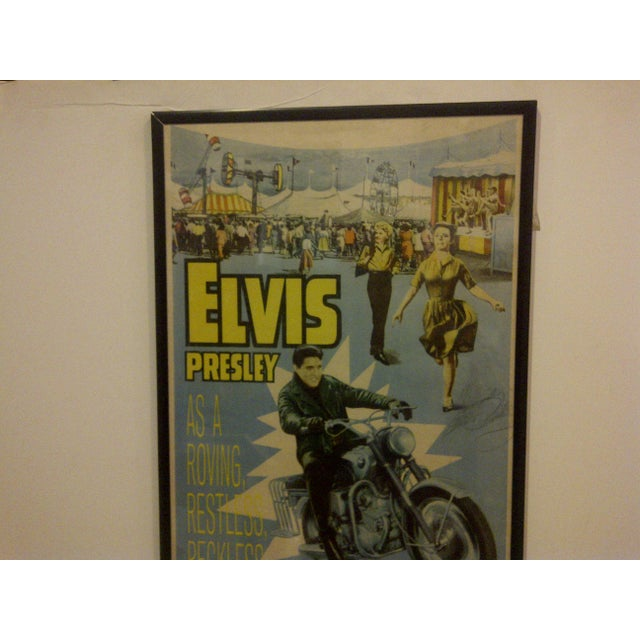 "Vintage Movie Poster ""Roustabout"" Signed by Elvis Presley Circa 1964 For Sale - Image 4 of 10"