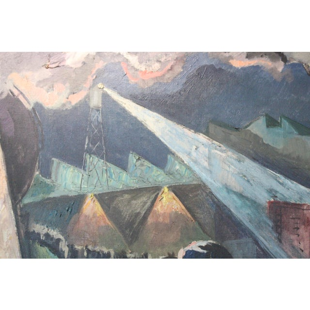 Buchholz Industrial Train Scene Painting For Sale - Image 4 of 7