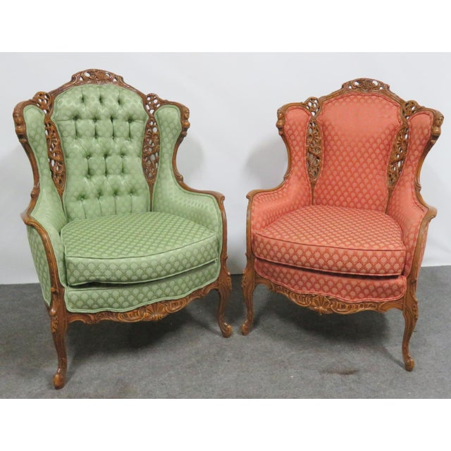 Louis XV Style Carved Chairs- a Pair For Sale - Image 10 of 10