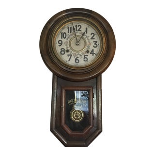 Mid Century Korean Regulator Clock For Sale