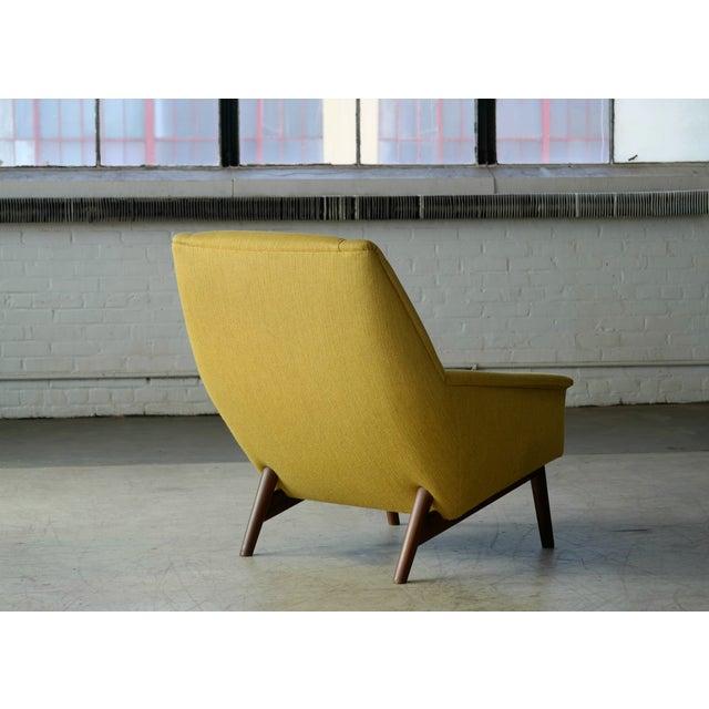 Folke Ohlsson 1950s Mid-Century Danish Teak Lounge Chair for Fritz Hansen For Sale In New York - Image 6 of 10