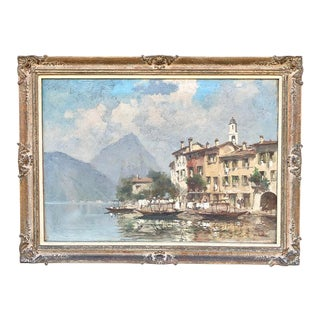 Antique Framed Oil Painting on Canvas For Sale