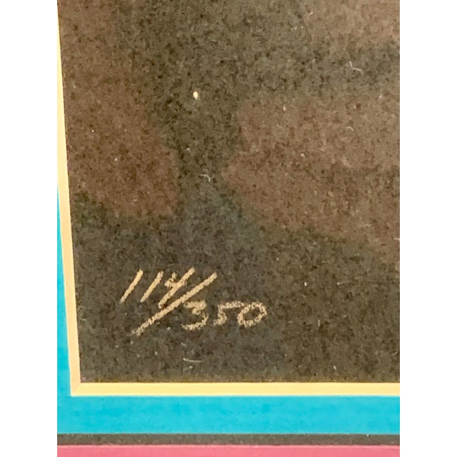 1980s Luis Preciado Figurative Signed and Numbered Limited Edition Serigraph, Framed For Sale - Image 4 of 7