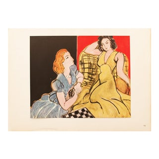 "1946 Henri Matisse Original ""The Conversation"" Parisian Period Lithograph For Sale"
