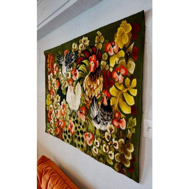 Textile Handwoven French Tapestry by Henri Ilhe For Sale - Image 7 of 9
