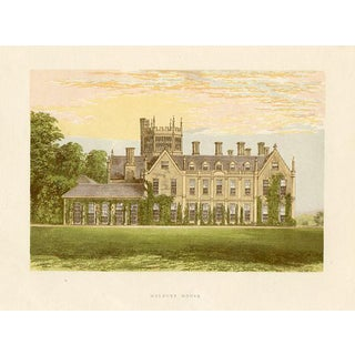 1880s English Manor Home Print, Melbury House For Sale
