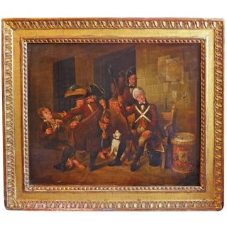 Oil Painting by British Caricaturist Henry W. Bunbury For Sale