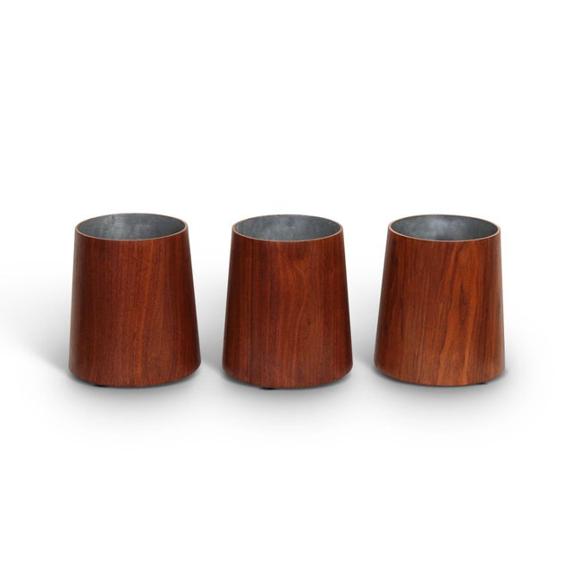 Mid-Century Modern Collection of Jens Risom Wastebaskets For Sale - Image 3 of 13
