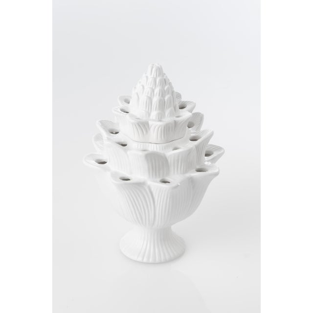 Contemporary Large White Artichoke Tulipiere For Sale - Image 3 of 3