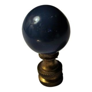 Aegean Blue Round Ball Ceramic Finial