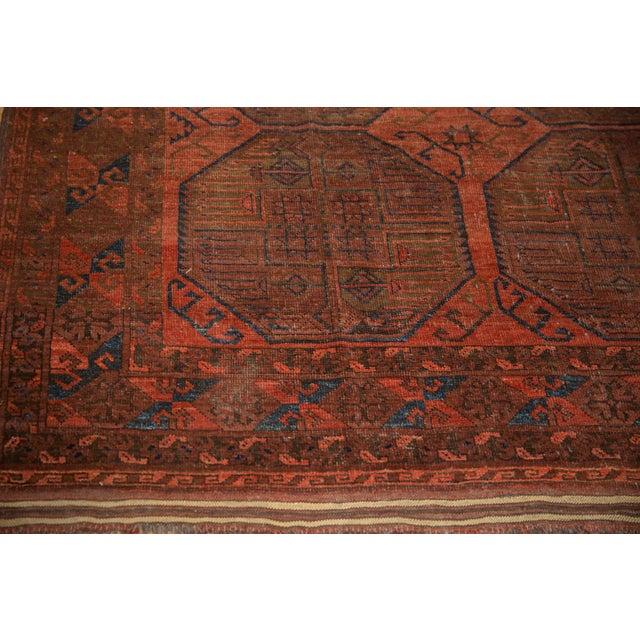 "Vintage Ersari Carpet - 7'6"" X 11'4"" For Sale - Image 11 of 12"