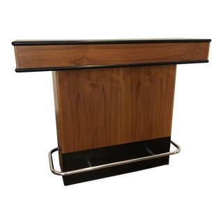 Teak & Black Mid Century Bar For Sale