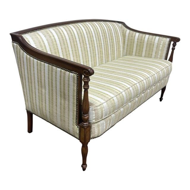 Hickory Furniture Co Sheraton Mahogany Settee For Sale