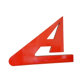 Red Enamel Sign Letter 'A'