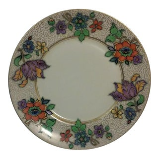 Antique Bavarian Art Deco Botanical Plate For Sale