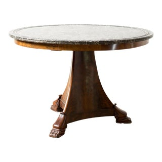 Antique Black Marble Table For Sale