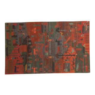 New Tibetan Folk Art Rug For Sale