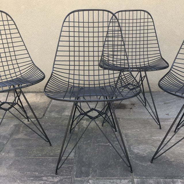 Own a piece of history! Authentic Herman Miller Eiffel Chairs. There are four available. Sold individually. Professionally...