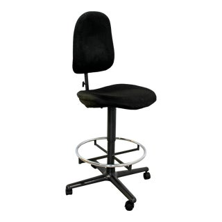 Mid Century Modern Herman Miller Swivel Adjustable Drafting Stool Chair For Sale