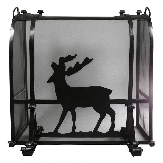 Arts and Crafts Wrought Iron Fireplace Screen For Sale - Image 9 of 9