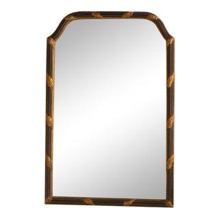 Regency Style Black & Gold Framed Mirror For Sale