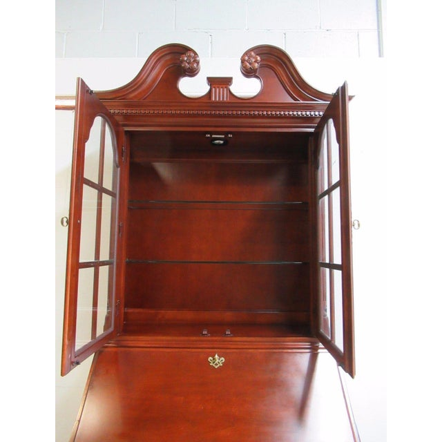 Wood Thomasville Bombay Cherry Drop Front Secretary Writing Desk For Sale - Image 7 of 10