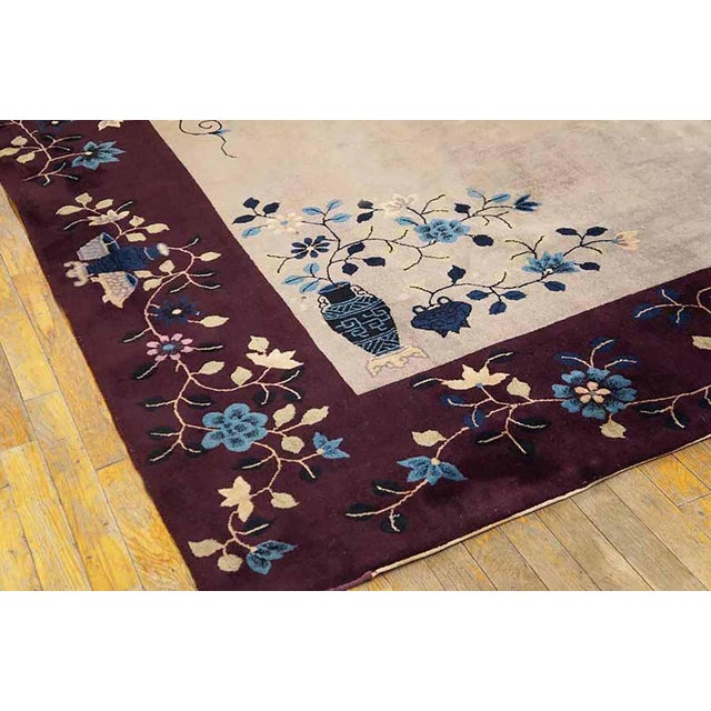 """Art Deco 1920s Antique Art Deco Chinese Rug-8'10"""" X 11'6"""" For Sale - Image 3 of 5"""