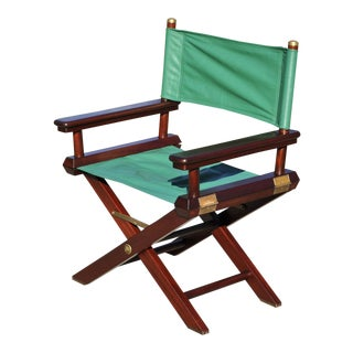Ralph Lauren Solid Mahogany Directors Chair For Sale