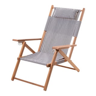 Tommy Outdoor Chair - Lauren's Navy Stripe For Sale