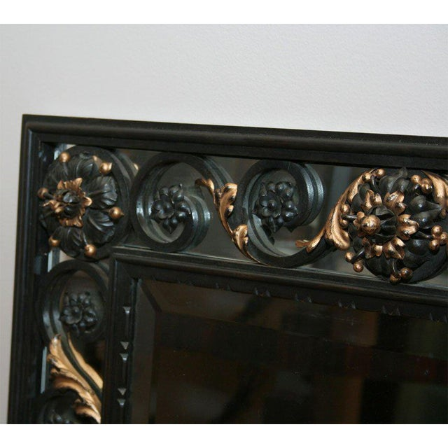 1940s Art Deco Mirror Attributed to Poillerat For Sale - Image 5 of 6