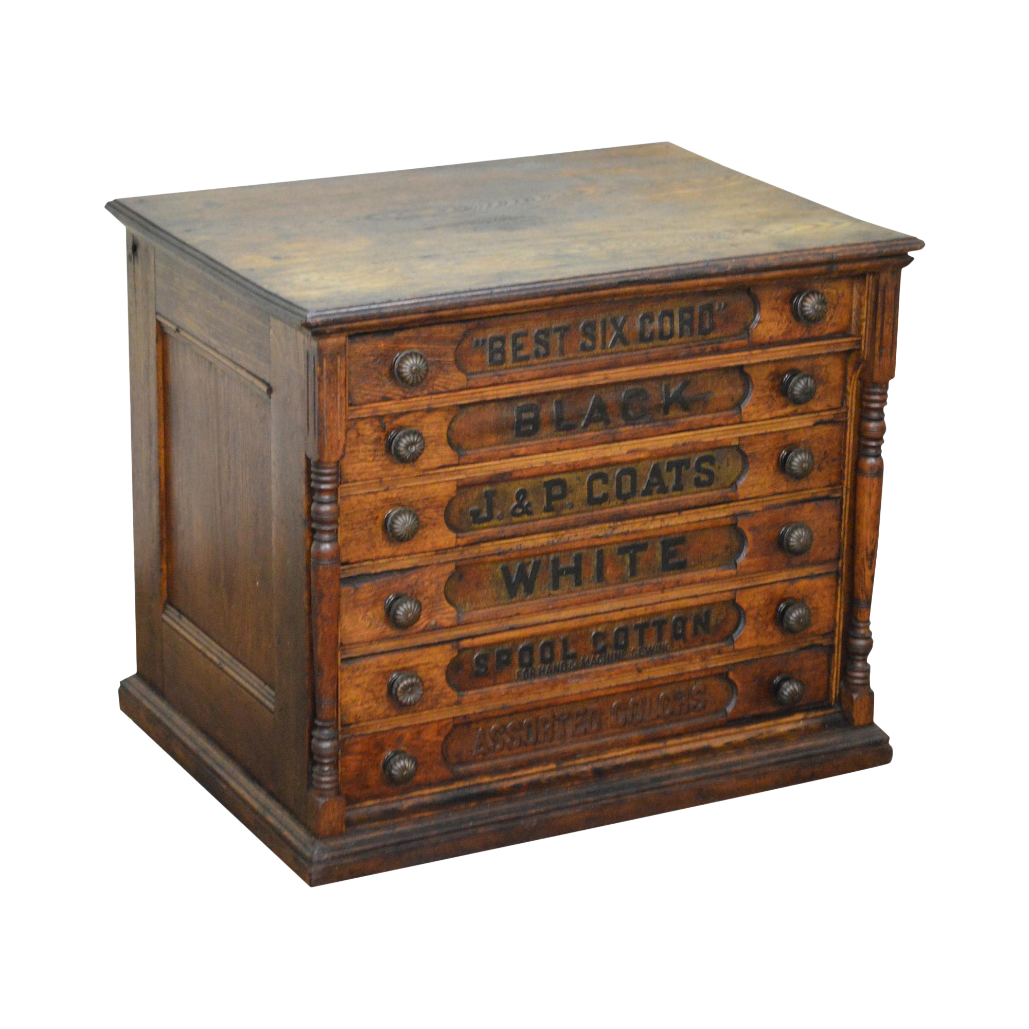 Ju0026P Coats Antique Country Store 6 Drawer Spool Cabinet