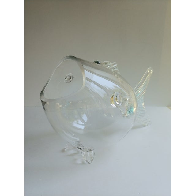 Mid-Century Modern Blenko Blown Glass Fish For Sale - Image 3 of 4
