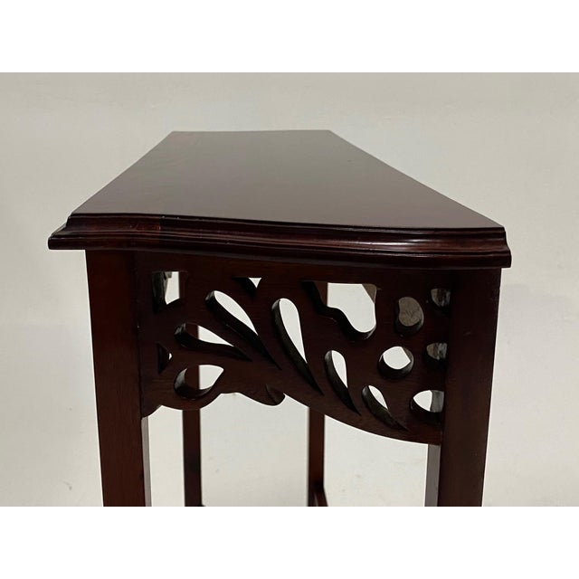 Carved Mahognay Console Table For Sale In Philadelphia - Image 6 of 12