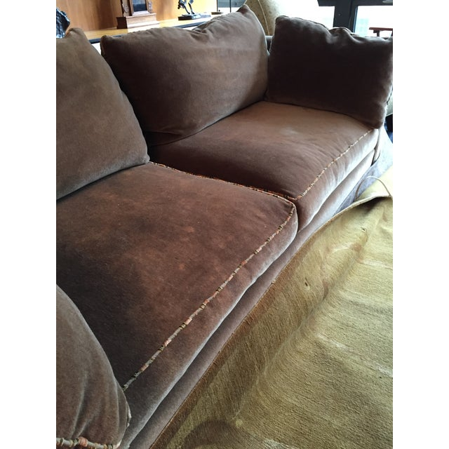 Baker Madison Taupe Mohair Sofa For Sale In Chicago - Image 6 of 8