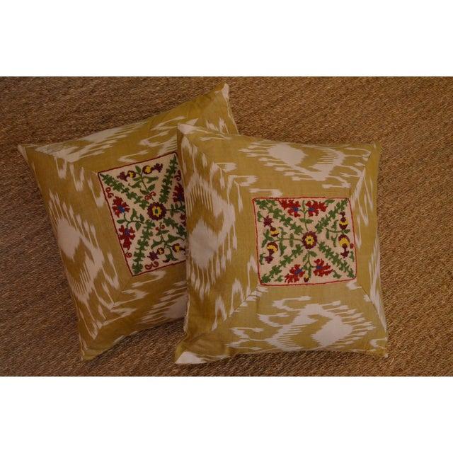 Ikat Suzani Pillowcases - A Pair - Image 2 of 3