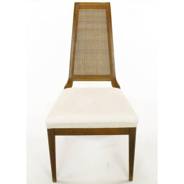 Sleek, circa 1950s Modern Walnut and Cane Dining Chairs - Image 3 of 10