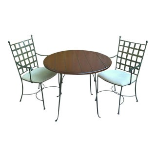 Spanish Charleston Forge Etrusche Dining Set - 3 Pieces For Sale
