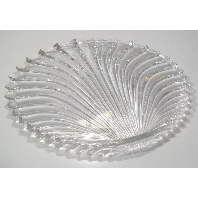 Lead Crystal Shell Platter - Image 2 of 5