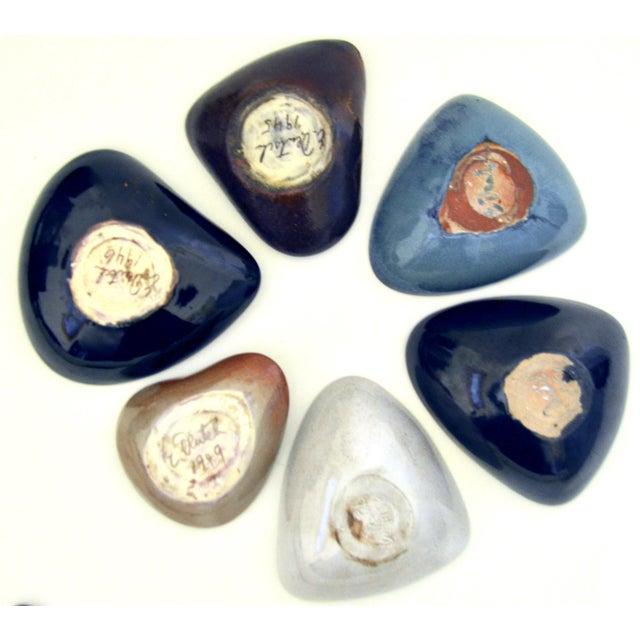 Mid Century Eugene Deutch Chicago Modernist Six Ceramic Bowls For Sale In Los Angeles - Image 6 of 10