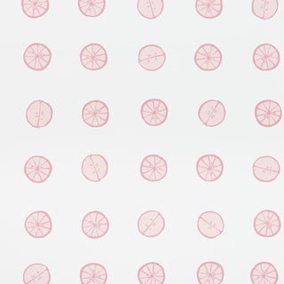 Schumacher X Vera Neumann Lemonade Wallpaper in Grapefruit For Sale