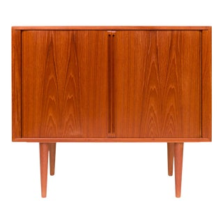 Vintage Danish Teak Record Player Cabinet by Kai Kristiansen for Fm Mobler Denmark For Sale