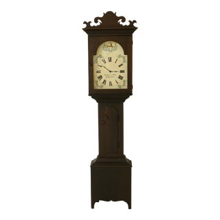 Stephen Von Hohen Crackle Painted Bucks County Grandfather Clock For Sale
