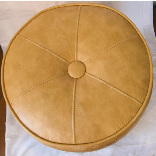 1970s Leather Moroccan-Style Pouf Ottoman For Sale In New York - Image 6 of 13