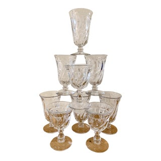 Petite Dessert Wine, Grappa or Cognac Glasses, Set of Nine For Sale