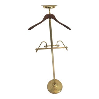 Vintage Mastercraft Brass Gentleman's Valet Hollywood Regency Era Butler Valet Coatrack